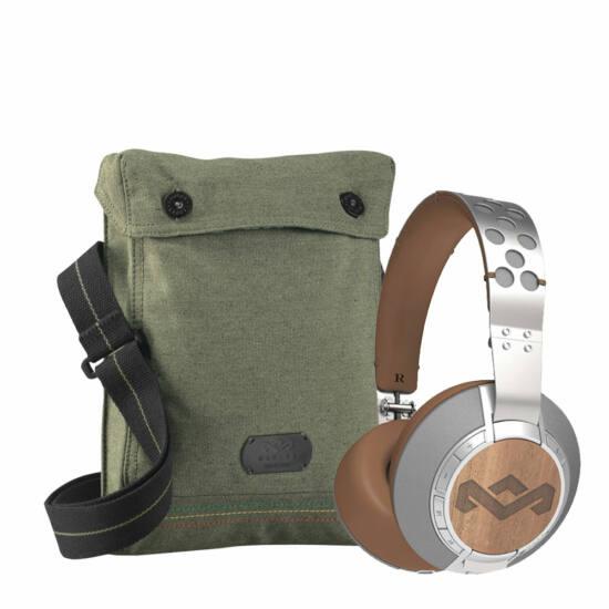 Marley Liberate XL Bluetooth Fejhallgató Szürke+Ajándék vászontáska
